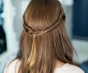 hair and brunette image