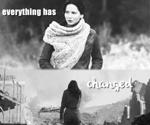 before and after, the hunger games, and katniss image