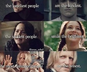 hunger games, katniss, and peeta image