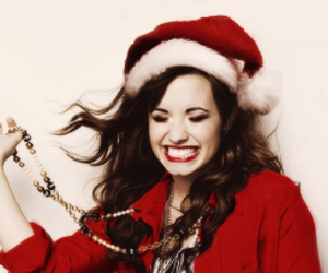 demi lovato, red, and smile image