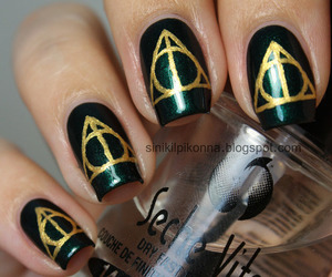 harry potter, nails, and harry potter nails image