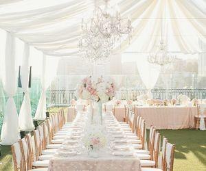 lace, fashion, and white cream wedding dress image