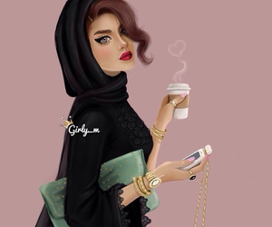 girly_m, drawing, and hijab image