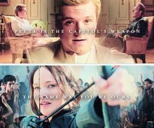 capitol, katniss, and peeta image