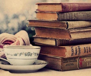 books, pretty, and coffee image
