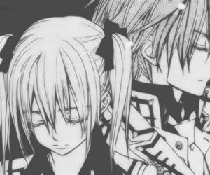 manga, monochrome, and vampire knight image
