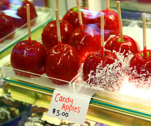 apple, candy apple, and red image
