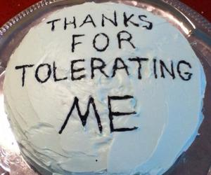 cake, thanks, and funny image