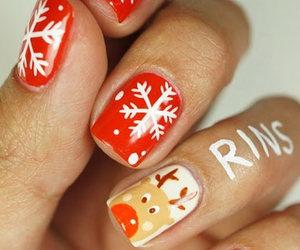 nails and christmas image