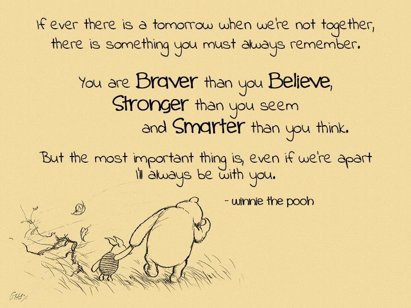 brave, pooh, and quote image