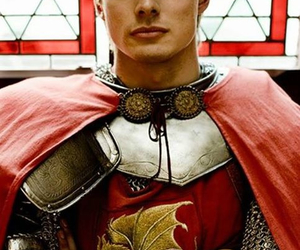 bradley james, merlin, and arthur pendragon image