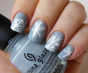girls, winter, and nails art image