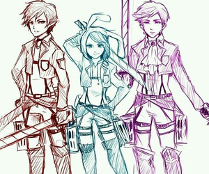adventure time, marshall lee, and attack on titan image