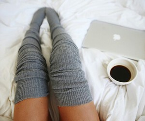 coffee, bed, and cozy image
