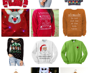 girly things, ugly sweater, and christmas theme sweaters image