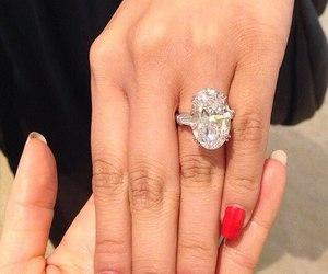 ring, diamond, and nails image
