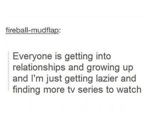 Relationship, Lazy, and tv image