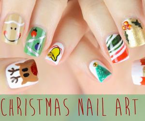 christmas, nails, and nail art image