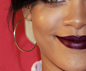 eyes, lipstick, and rihanna image