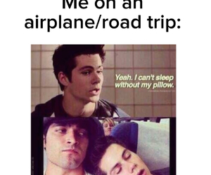 airplane, pillow, and Road Trip image