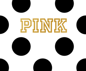 black & white, gold, and pink image