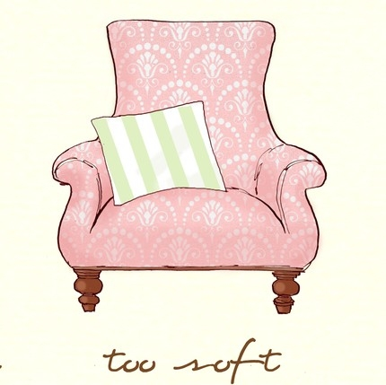 chair, illustration, and pink image