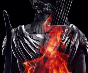 cover, fire, and katniss image