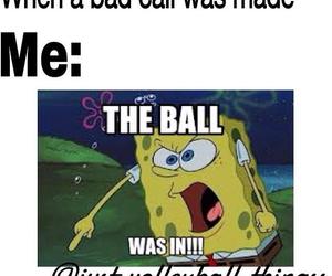 ball, volleyball, and bob l eponge image