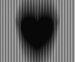 black, heart, and illusion image