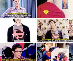 superman, the flash, and grant gustin image