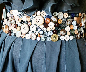 buttons, belt, and blue image