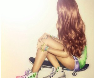 Chica, converse, and girl image
