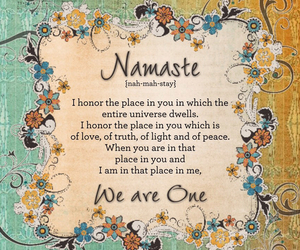 namaste and quote image