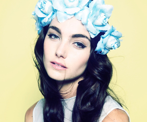 flowers, girl, and crown image