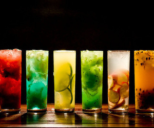 alcohol, Cocktails, and colorful image