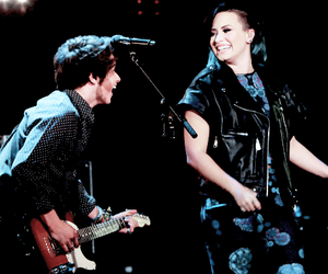 demi lovato, the vamps, and bradley will simpson image
