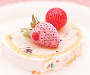 strawberry, cake, and sweet image