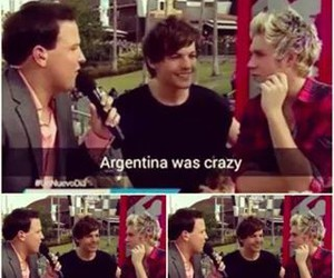 argentina, niall horan, and louis tomlinson image