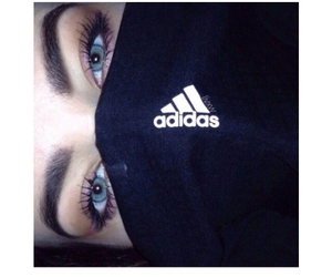 adidas, eyes, and blue image