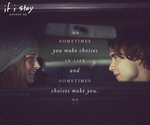 if i stay, movie, and quotes image