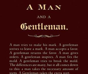 quote, gentleman, and man image