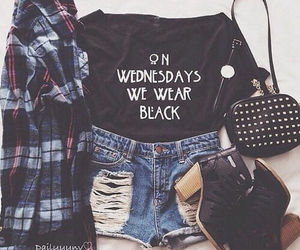 boots, flannel, and fall outfit image