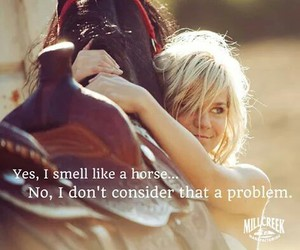 Cowgirl, love, and horse image