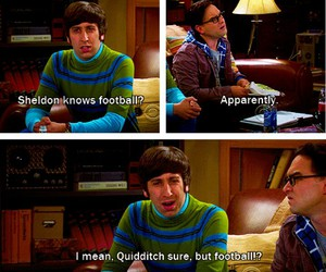 quidditch, football, and sheldon image