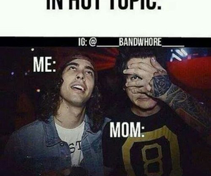 hot topic, pierce the veil, and funny image