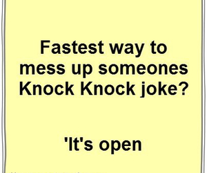 funny, jokes, and knock knock image