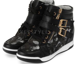 black, fashion, and sneakers image