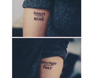 tattoo, heart, and courage image