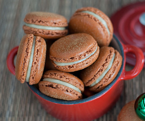 desserts, food, and macarons image