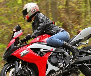 fighter, motorbike, and strong image